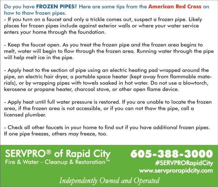 What to do if you have FROZEN PIPES